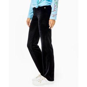 Lilly Pulitzer Jordynne Velour Pants Black Size M